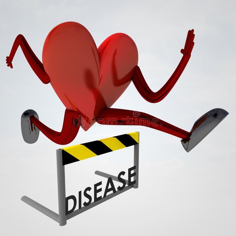 De sprong van het de gezondheidscijfer van het hart over ziekte stock illustratie