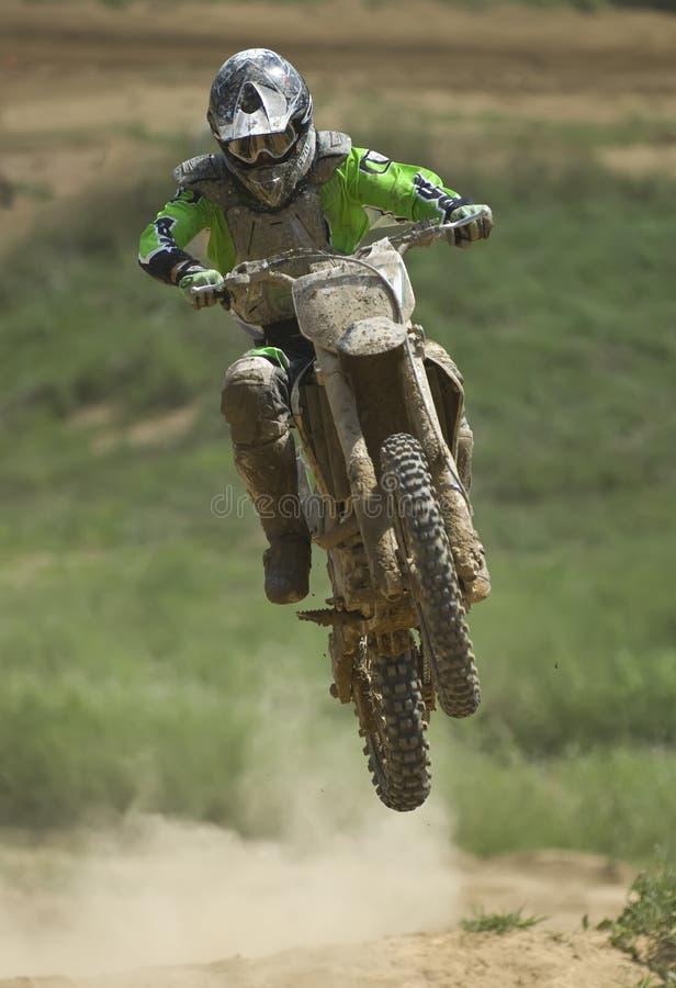 De sprong van Motorcross royalty-vrije stock afbeeldingen