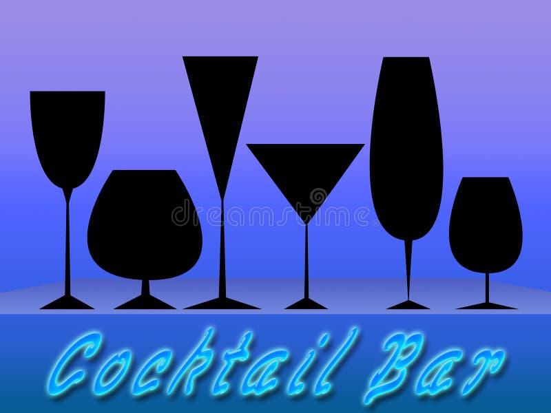De staaf van de cocktail (01) stock illustratie