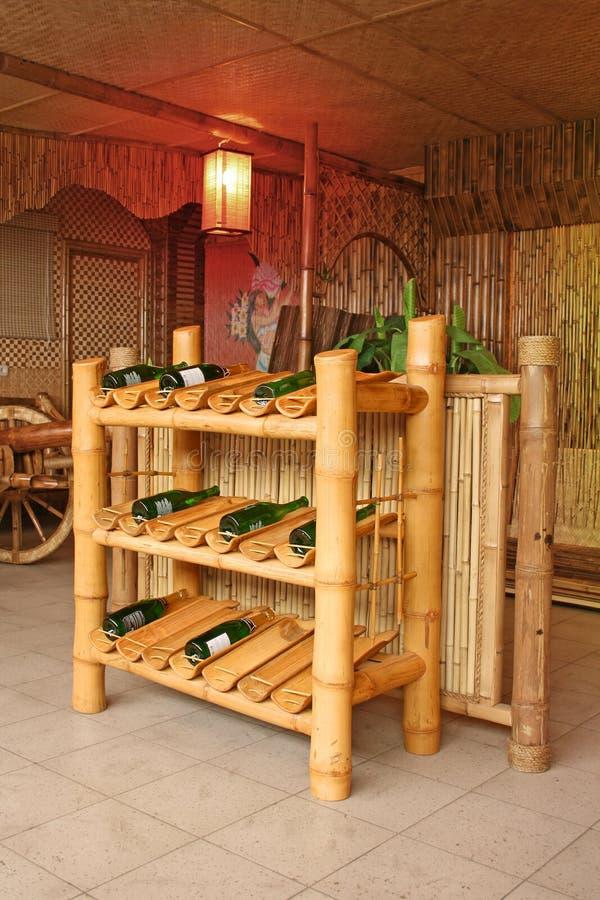 De staaf van de wijn stock afbeelding
