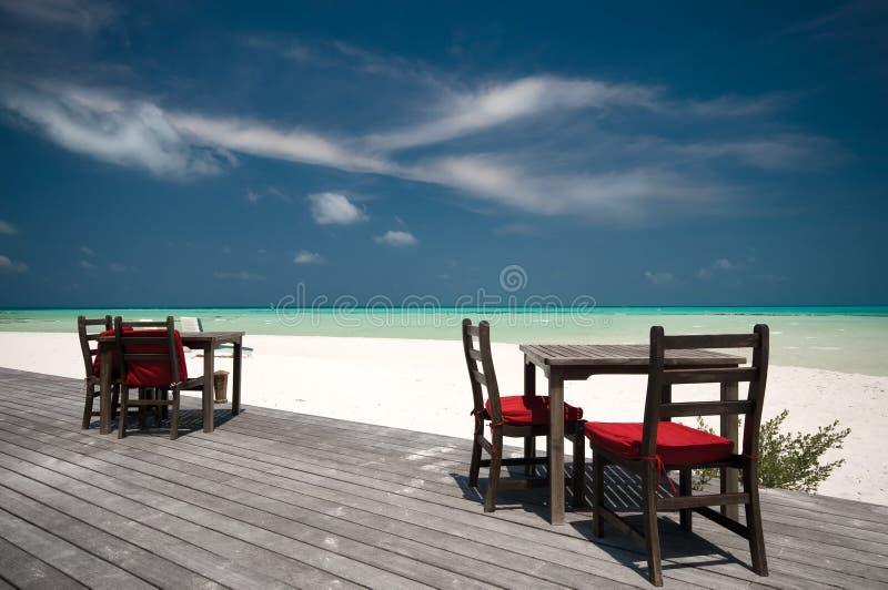 De Staaf van het strand stock afbeelding