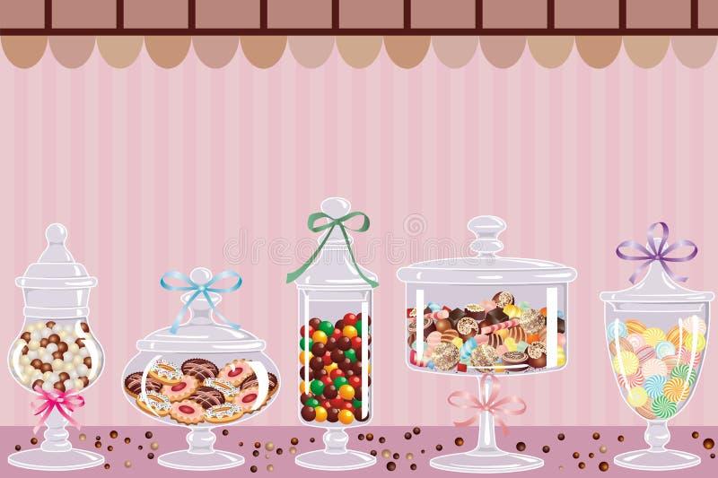 De staaf van het suikergoed vector illustratie