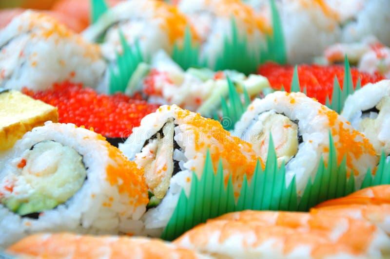 De staaf van sushi stock foto's