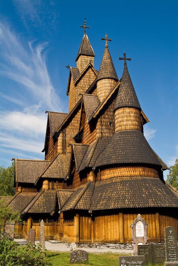 De staafkerk van Heddal royalty-vrije stock fotografie