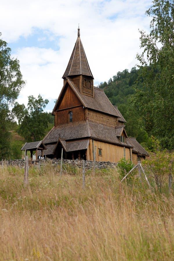 De staafkerk van Urnes royalty-vrije stock afbeeldingen