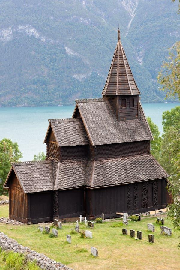 De staafkerk van Urnes royalty-vrije stock fotografie