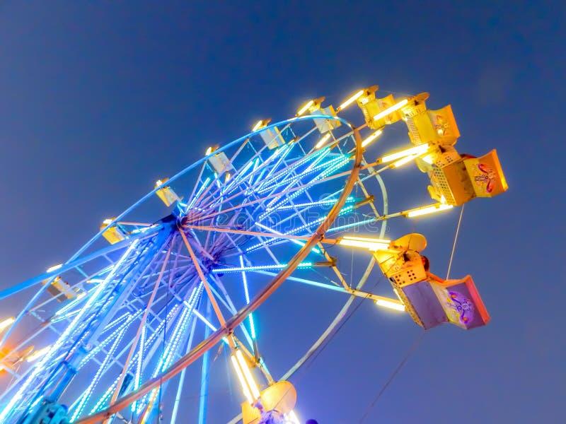 De Staat Eerlijk Ferris Wheel At Night van Sacramento stock foto