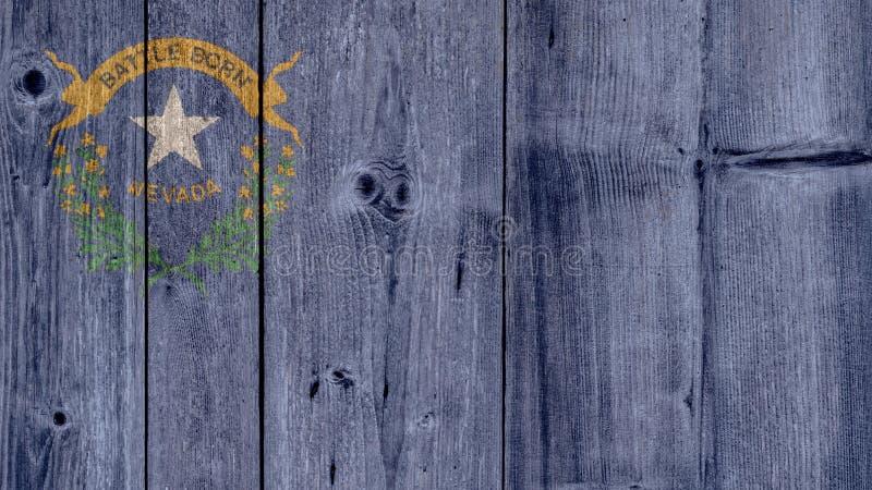 De Staat Nevada Flag Wooden Fence van de V.S. stock fotografie