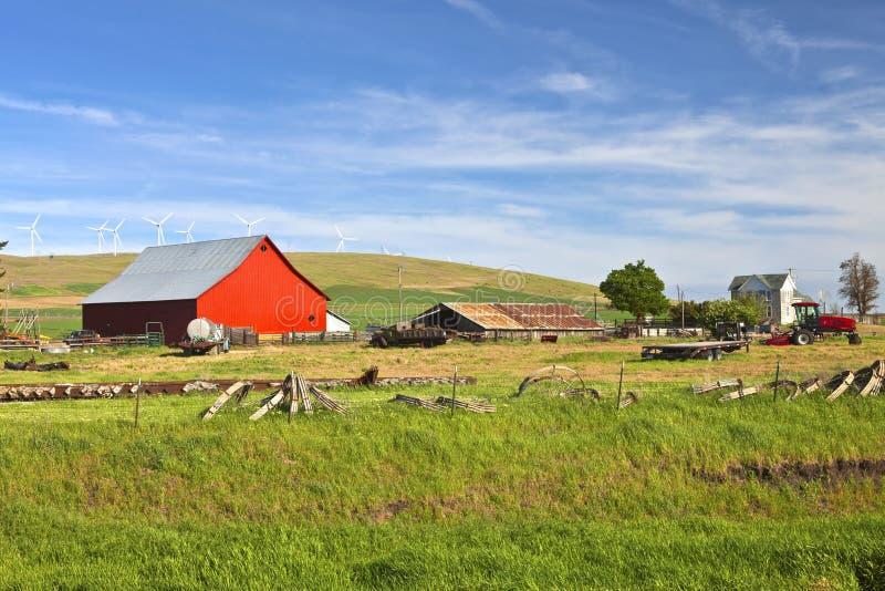 De staat van het landbouwbedrijf Oostelijke Washington van het land. stock fotografie