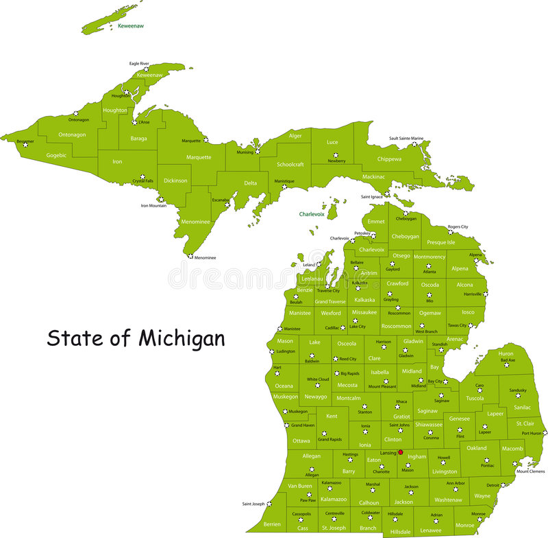 De staat van Michigan vector illustratie