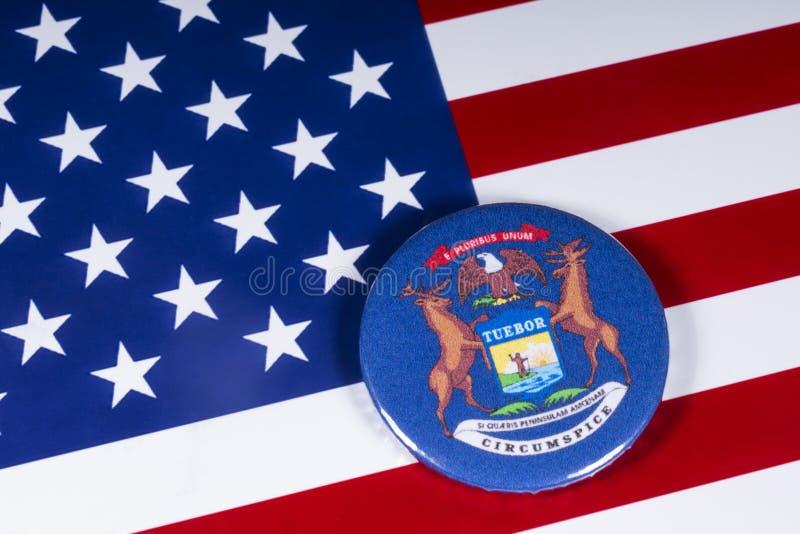 De Staat van Michigan in de V.S. stock fotografie