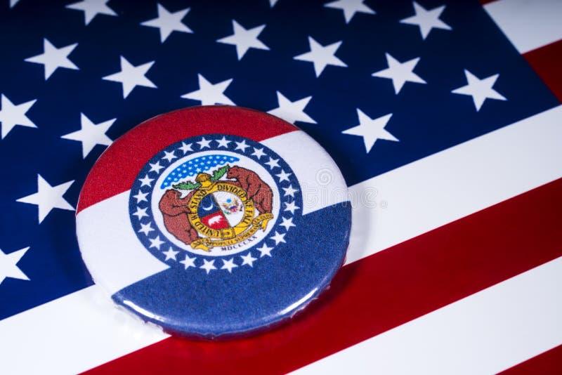 De Staat van Missouri in de V.S. stock afbeelding