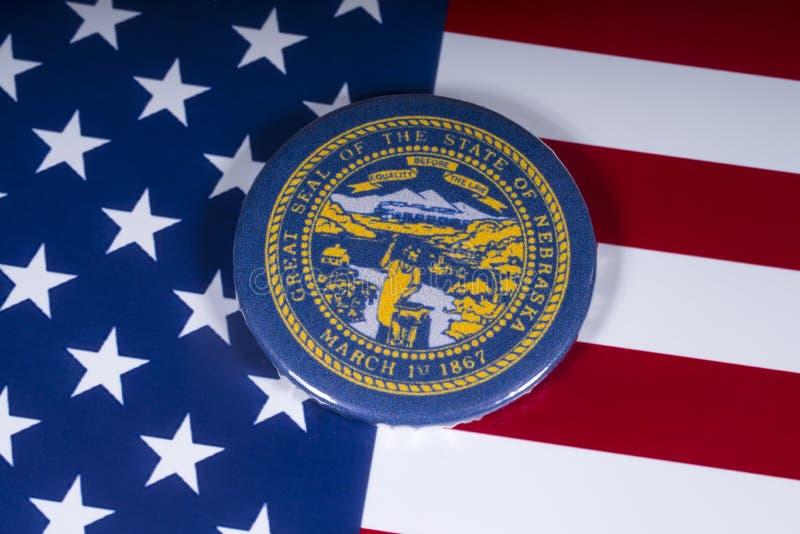 De Staat van Nebraska in de V.S. royalty-vrije stock foto's