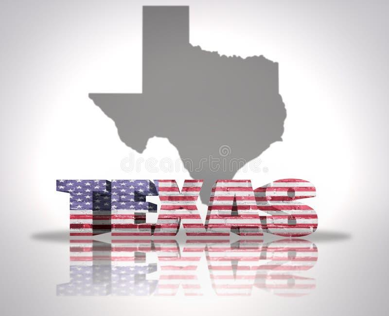De staat van Texas vector illustratie
