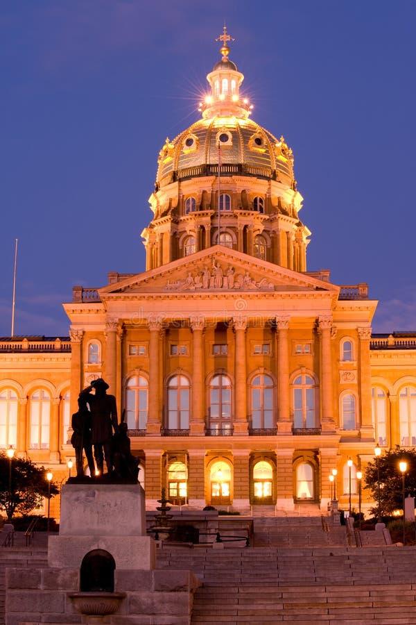 De staatscapitol van Iowa royalty-vrije stock foto