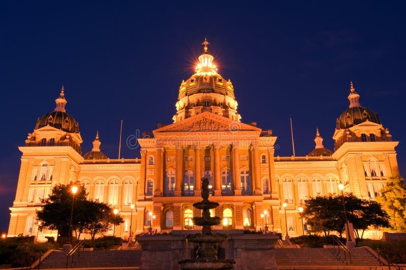 De staatscapitol van Iowa royalty-vrije stock afbeeldingen