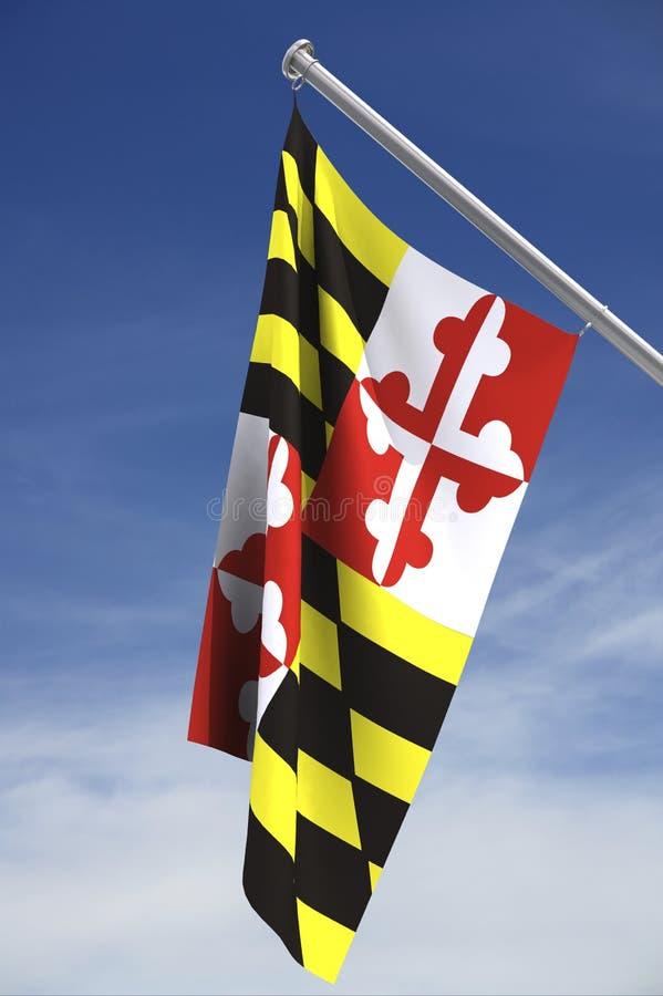 De staatsvlag van Maryland stock illustratie