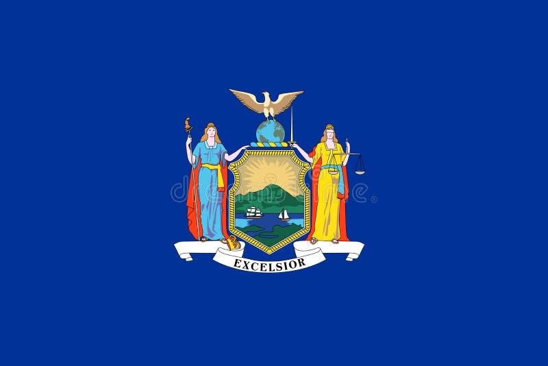 De staatsvlag van New York royalty-vrije illustratie
