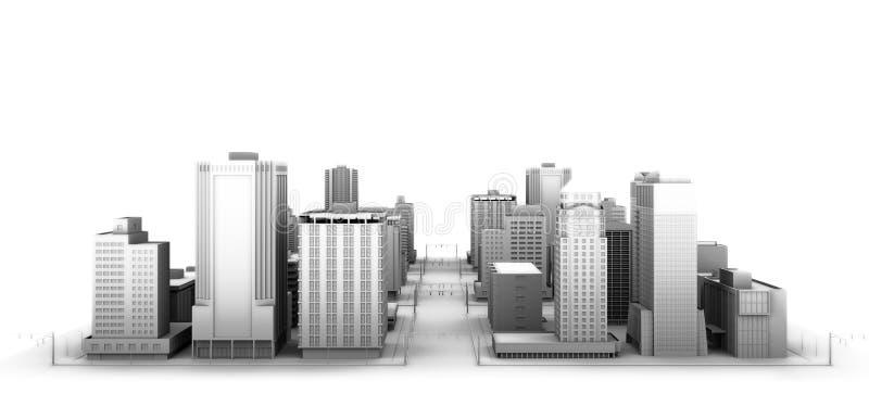 De stad stock illustratie