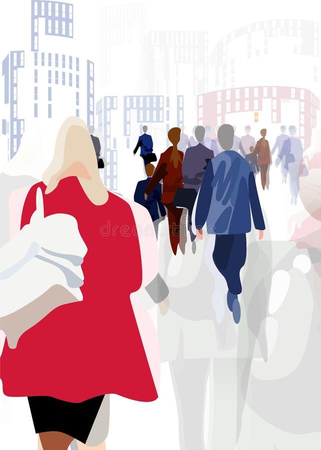 In de Stad royalty-vrije illustratie