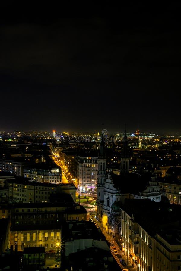 De stad bij nacht is een stille plaats royalty-vrije stock fotografie