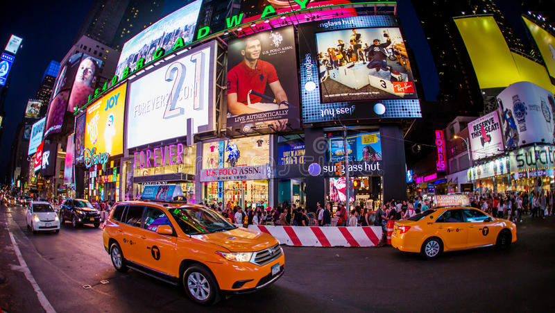 De stad Broadway van New York stock fotografie