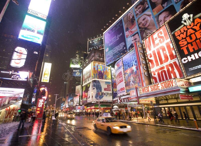 De stad Broadway van New York stock afbeeldingen