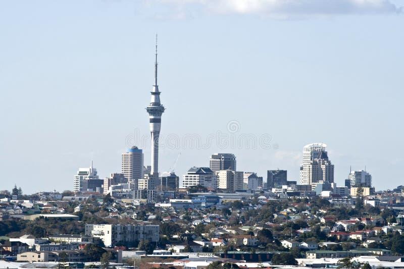 De Stad CBD van Auckland stock foto's