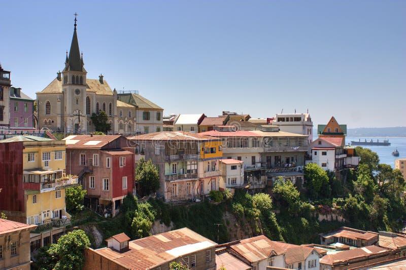 De stad Chili van Valparaiso stock afbeelding