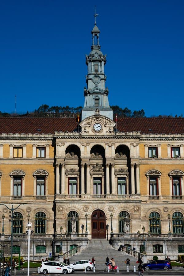 De Stad consistoriaal Hall Casa van Bilbao - Ayuntamiento royalty-vrije stock afbeelding