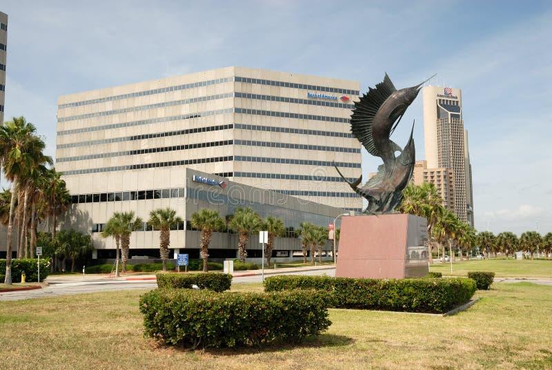 De stad in in Corpus Christi, Texas royalty-vrije stock fotografie