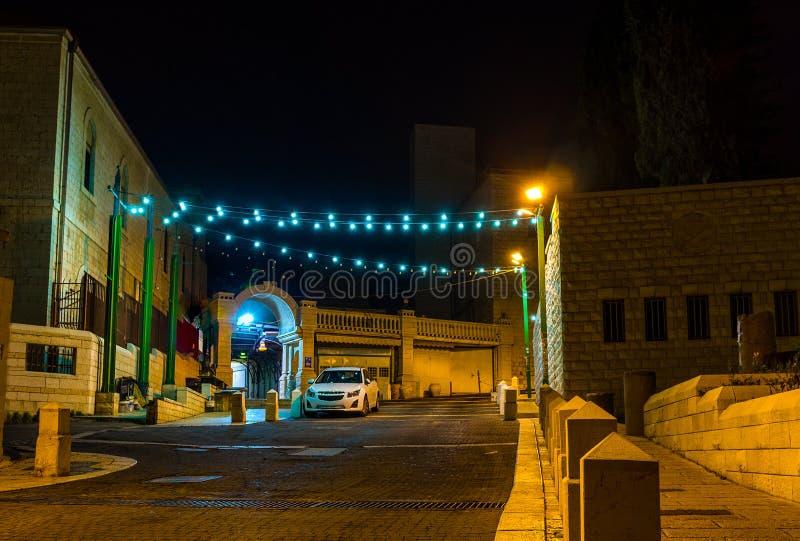 De stad in de nacht royalty-vrije stock fotografie