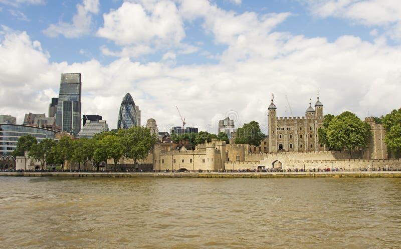 De Stad & de Toren van Londen royalty-vrije stock afbeelding
