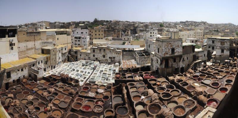 De stad en de markt van Fes royalty-vrije stock foto's