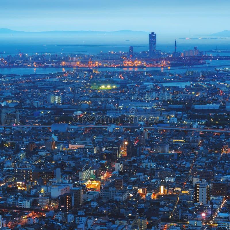 De stad en de horizon van Osaka royalty-vrije stock afbeelding