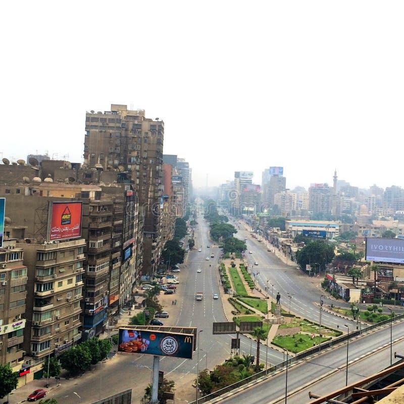 De stad en rivier Nijl van Kaïro royalty-vrije stock afbeelding