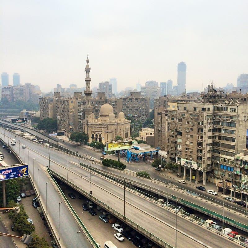 De stad en rivier Nijl van Kaïro royalty-vrije stock afbeeldingen