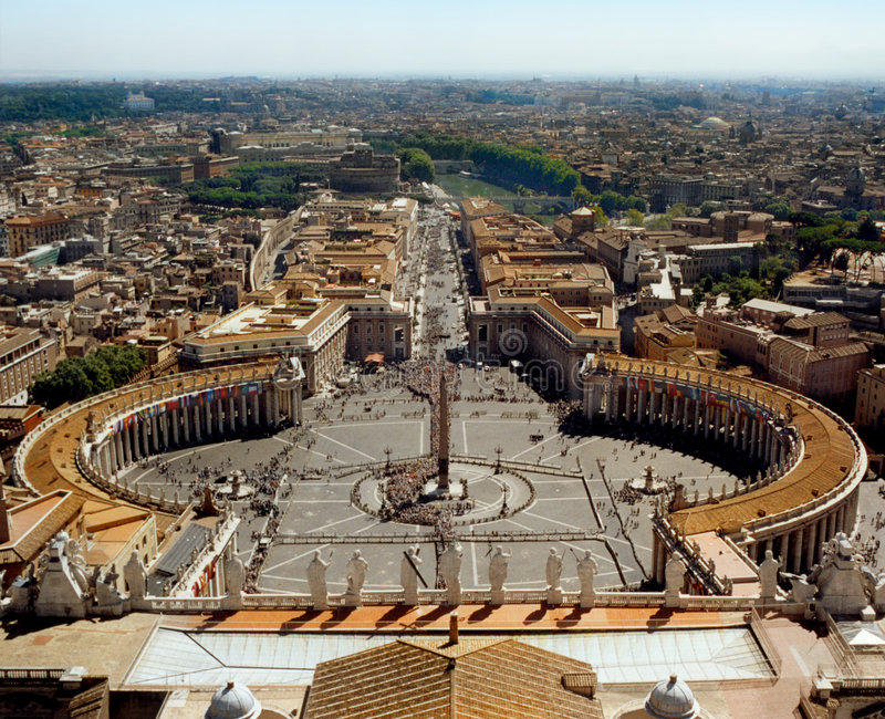 De stad en Rome van Vatikaan stock fotografie