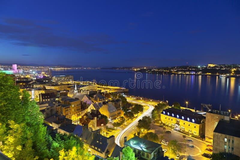 De Stad en St. Lawrence River, Canada van Quebec royalty-vrije stock afbeeldingen