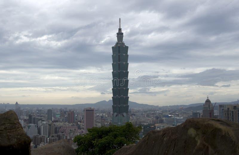 De stad en 101 van Taipeh royalty-vrije stock foto's
