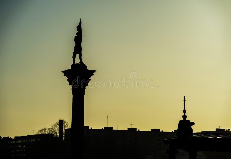 De stad en de zonsopgang van Stockholm stock foto's