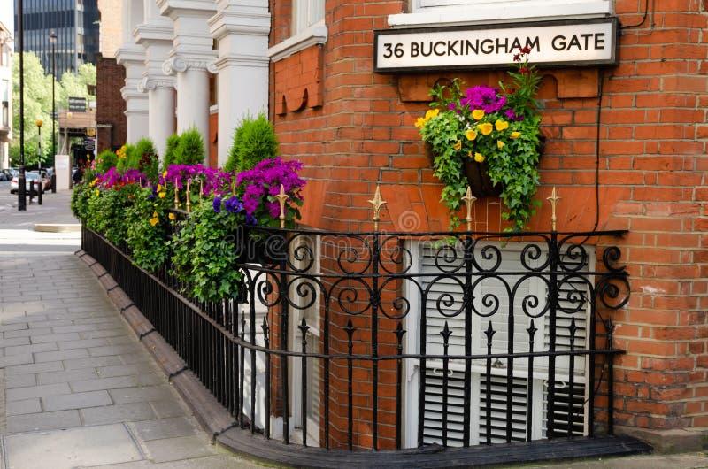 De stad/Engeland van Londen: Straten van Westminster stock foto's