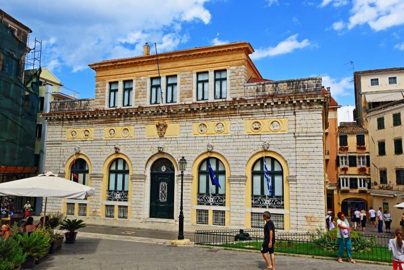 De Stad Hall Greece van Korfu stock afbeeldingen