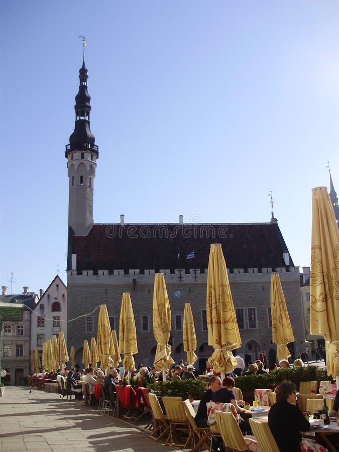 De Stad Hall Square van Tallinn royalty-vrije stock fotografie