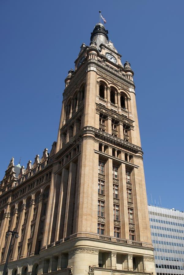 De Stad Hall Tower van Millwaukee stock afbeelding