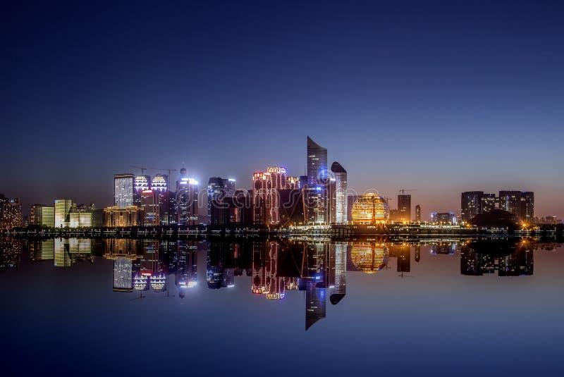 De stad Hangzhou van China royalty-vrije stock foto