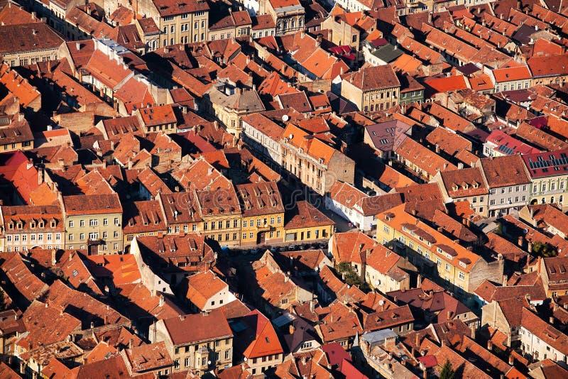 De stad huisvest patroon stock foto's