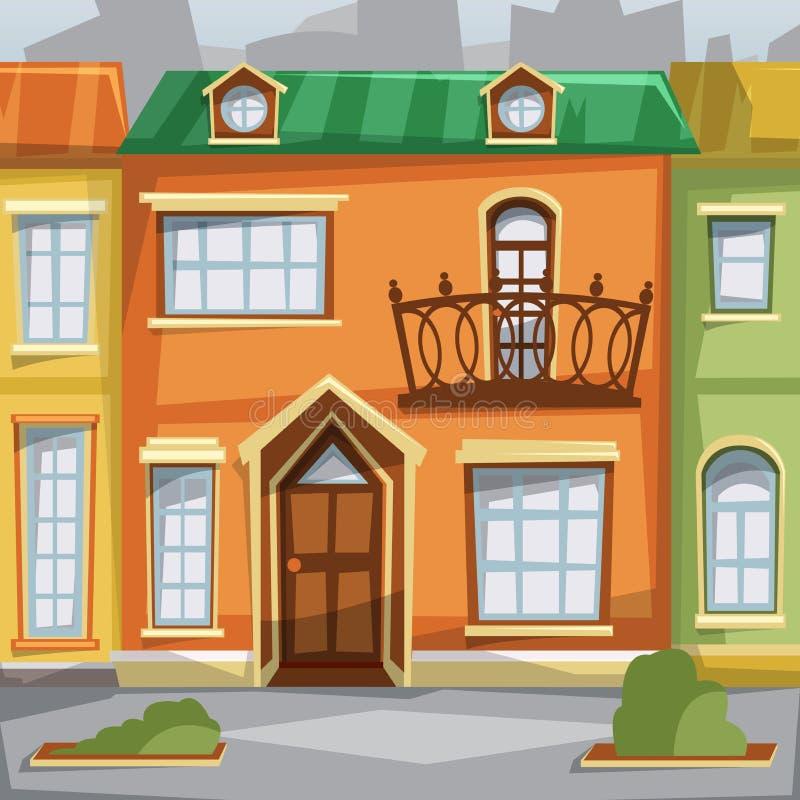 De stad huisvest voorgevels vector illustratie