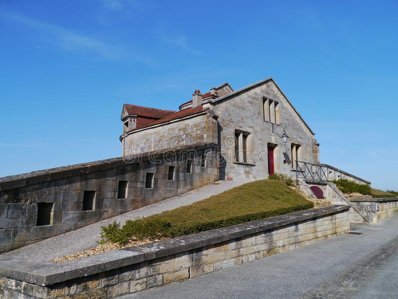 De stad Langres in Frankrijk stock foto