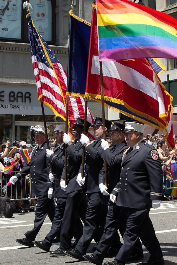 2016 de Stad LGBT Pride March van New York royalty-vrije stock afbeeldingen